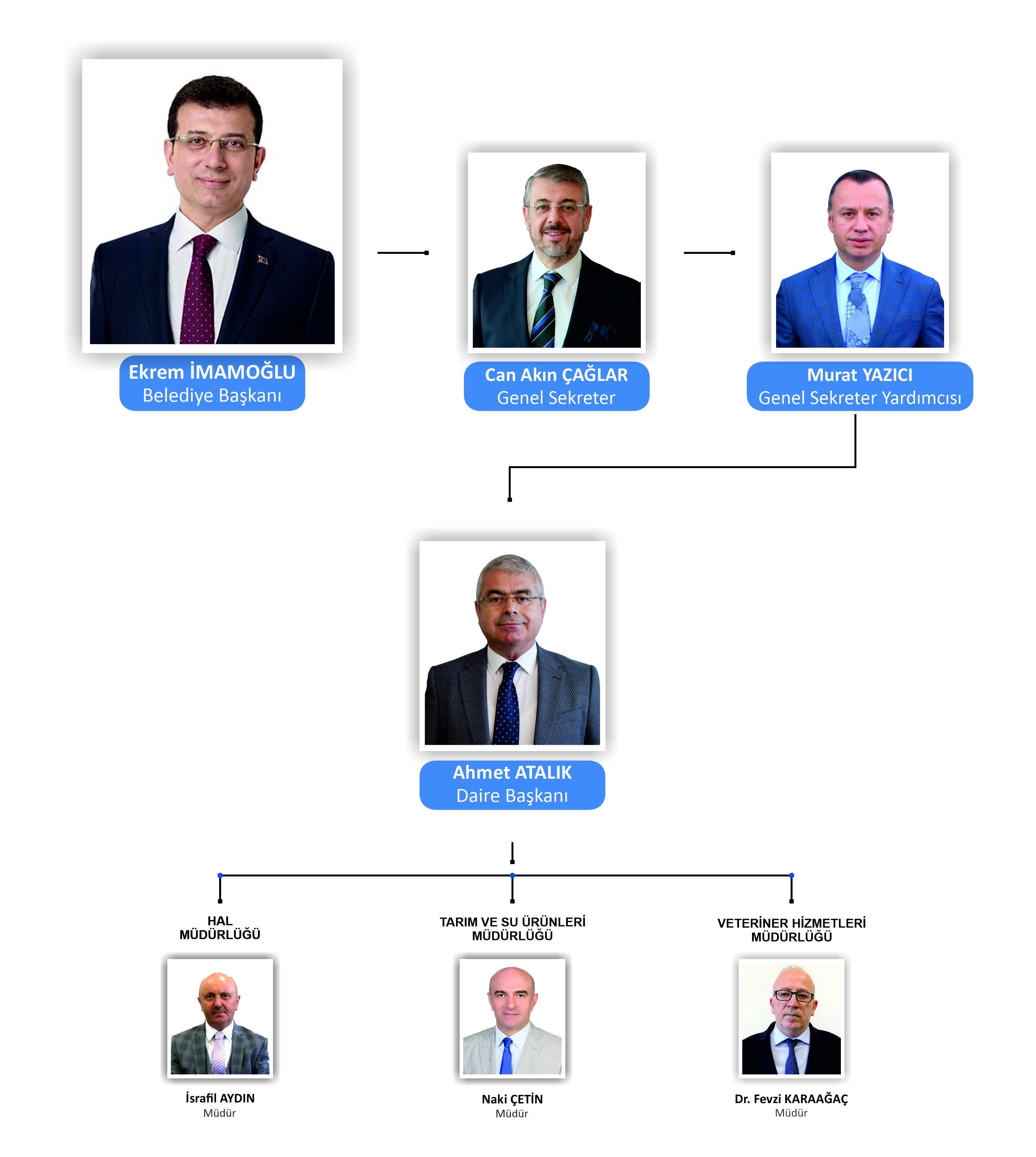 Yönetim Şeması - TARIMSAL HİZMETLER DAİRESİ BAŞKANLIĞI
